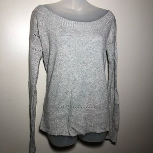 Medium American Eagle Gray Wide Neck Sweater Top